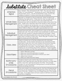 Planning Throw this editable substitute cheat sheet into your sub planning folder!Throw this editable substitute cheat sheet into your sub planning folder! Classroom Organisation, Teacher Organization, Teacher Hacks, Teacher Survival, Organized Teacher, Survival Kit, Organizing, Classroom Behavior, School Classroom