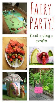 Magical ideas for a fairy theme - food, play, and crafts. Our house is fairy crazy right now, since Lakelynn has a fairy sneeking around and leaving her gifts. ;)