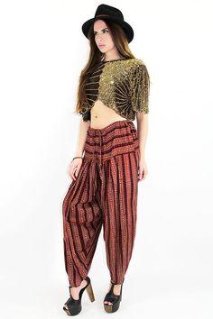 VIntage Harem Indian Pants by TatiTatiVintage on Etsy, $68.00