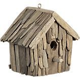 driftwood bird house:  a great combination of 3 things Anna and I love--collecting things on the beach, doing a project and attracting birds!