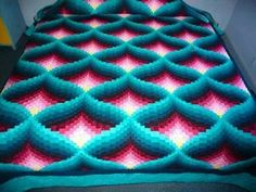 Amish Light in the Valley Quilt Pattern Find this Pin and more on Bargello. light in the valley quilt pattern Not a direct link, Search for it: Crochet Afghan Pattern: Pyramid Afghan Crochet Afghan Pattern: Pyramid Afghan - Can't find pattern, but would l Bargello Quilts, Broderie Bargello, Bargello Quilt Patterns, Patchwork Quilt, Quilt Patterns Free, Teal Quilt, Sampler Quilts, Hexagon Quilt, Crochet Afghans