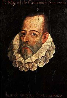Retrato de Miguel de Cervantes (1547-1616), de Juan de Jáuregui (1600).