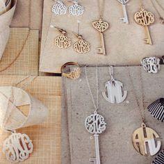 Love the monogram jewelry!