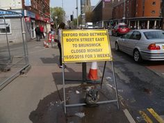 Oxford Road section closed on day of ride