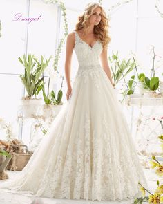 Dreagel Delicate Crystal Sashes Beaded Appliques Court Train A-Line Wedding Dress 2017 Romantic Sweetheart Princess Wedding Gown