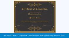 Printable Certificate Of Completion Templates pertaining to Blank Award Certificate Templates Word - Best & Professional Templates Ideas Certificate Of Participation Template, Blank Certificate Template, Certificate Of Completion Template, Certificate Format, Training Certificate, Printable Certificates, Award Certificates, Event Template, List Template