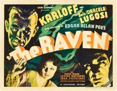 July 8 - Opened on this date in 1935: The Raven. #horror #boriskarloff #belalugosi #edgarallanpoe #horror