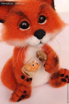 Купить Каждому по желанию - рыжий, игрушка ручной работы, игрушка из шерсти, валяная игрушка