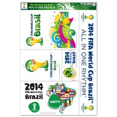 "FIFA World Cup 2014 Multi-Use Decal (11"" x 17"")"