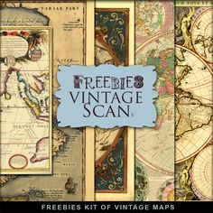 New Freebies Kit of Vintage Maps [3]