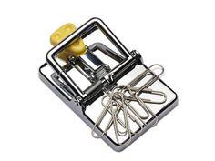 Vang al uw klanten met deze papercliphouder in de vorm van een muizenval.