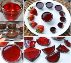 Strawberry Jello Chocolate Bowls