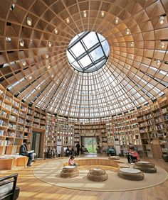roof modern yurt glass roof library Source by Library Architecture, Cultural Architecture, Organic Architecture, Chinese Architecture, Concept Architecture, Interior Architecture, Yurt Interior, Colour Architecture, Pavilion Architecture