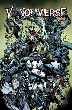 Venomverse #4 (2017) Variant Cover by Mark Bagley
