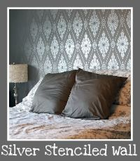 This wall is a silver painted stencil!