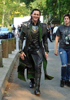 Tom Hiddleston as Loki in NYC