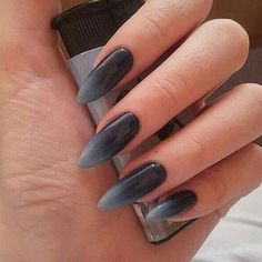 Uploaded by Moon Goddess. Find images and videos about girl, fashion and style on We Heart It - the app to get lost in what you love. Edgy Nails, Grunge Nails, Oval Nails, Stylish Nails, Punk Nails, Long Stiletto Nails, Black Nails, Almond Acrylic Nails, Best Acrylic Nails
