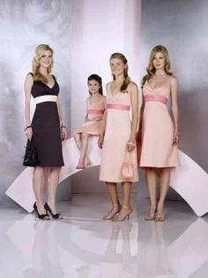 Graceful Wide V Neckline Tea length Elastic Satin Delicated Ribbon Dress