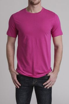 ★	★	★	★	★ five stars (bright pink tee,  black faded jeans)