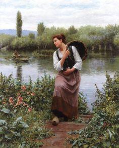 Woman With A Basket ~ Daniel R Knight