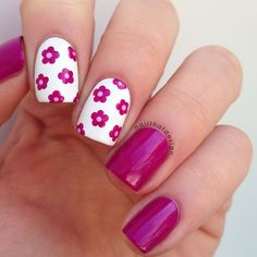 """Work done by """" nailthatdesign """" on Instagram  """"This mani makes me really happy  I used @appeal4 Pink Sunrise & Hollis Milkweed """""""