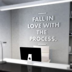 Love the Process Quote Office Wall Art Office Wall Art Office Wall Decor, Office Walls, Office Art, Wall Art Decor, Office Mural, Creative Office Decor, Office Lounge, Office Reception, Small Office