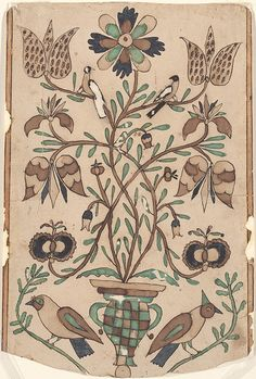 Drawing for Susanna Fluck - Fraktur Folk Art Flowers, Flower Art, Fabric Painting, Watercolor Paintings, Painting Tips, Abstract Paintings, Art Paintings, Botanical Illustration, Illustration Art