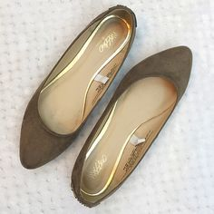 Ballet stud flats Ballet studded flats. Suede like fabric worn for only 2 hours like new no damages size 7 Mossimo Supply Co Shoes Flats & Loafers