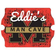 """Personalized Vintage """"Stadium"""" Man Cave Tavern Sign $45 - #Groomsmen #GroomsmenGifts #WeddingGifts #Gifts #Personalized"""