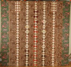 MUSEUM QUALITY Vintage 1830's 4-Patch Antique Quilt ~EARLY GLAZED CHINTZ FABRIC!  eBay, french72