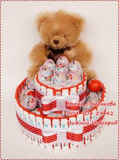 Gallery.ru / Фото #176 - Тортики и прочие штучки (часть 1) - astra4ka Crafts For Girls, Christmas Crafts For Kids, Chocolate Flowers Bouquet, Cake Tower, Candy Cakes, Candy Bouquet, Dessert Bread, Party Gifts, Valentine Day Gifts