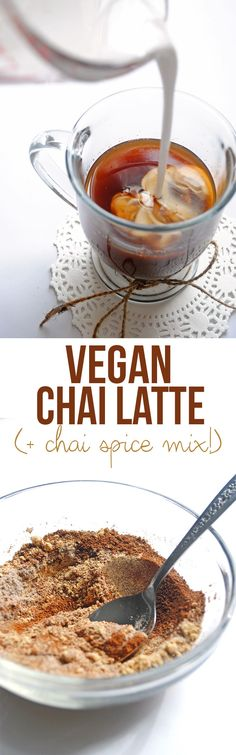 Warm up this winter with comforting chai spices in this creamy Vegan Chai Latte! Keep the extra chai spice mix for tea, smoothies, and more.