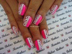 Nails Acrylic Colors Leopard Prints Ideas For 2019 Zebra Nail Art, Nail Art Diy, Diy Nails, Black Nail Designs, Nail Art Designs, Purple And Pink Nails, Mobile Nails, Nail Photos, Nail Time