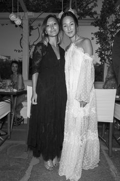 FOR STYLE INSPIRATION || NET-A-PORTER's Gretel Baron and Nicole Warne of Gary Pepper girl celebrate Zimmermann's 'Ten Years of Good Times' capsule launch in Mykonos || NOVELA BRIDE...where the modern romantics play & plan the most stylish weddings... www.novelabride.com @novelabride #jointheclique