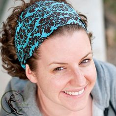 Turquoise & Brown Wide Headband