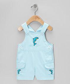 Love this Aqua Dolphin Shortalls - Infant by Fantaisie Kids on #zulily! #zulilyfinds