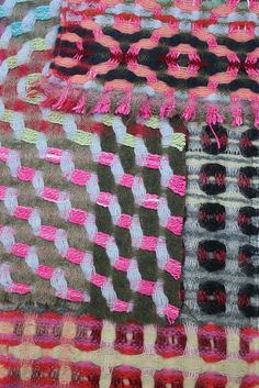 Textile detail from weaver Margo Selby