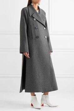 Stella McCartney - Edwina Oversized Wool-blend Felt Coat - Gray
