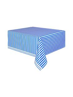Blue Stripe Table Cover | Discount Themed Tableware