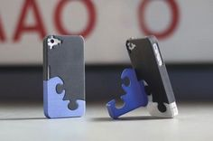 This iPhone case/stand that is shaped like a puzzle piece. The stand swings back into your iPhone for aesthetic convenience. 3d Printing Companies, 3d Printing Service, Print 3d, 3d Prints, Machine 3d, 3d Templates, 3d Printed Objects, 3d Printer Projects, 3d Projects