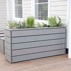 Pflanzkübel / Pflanzkasten Holz, Transparent Grau