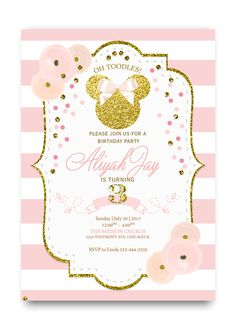 Children Birthday Invitations Boy Or Girl Party Invitation