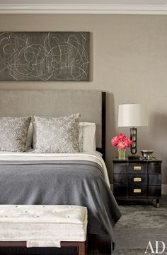 DISCREET MODERN NIGHTSTAND   Create cozy master bedroom décors with elegant furniture pieces like this black nightstand with three drawers and golden handles   #luxuryfurniture #interiordesign #masterbedroomideas For more inspirational news take a look at: www.bocadolobo.com