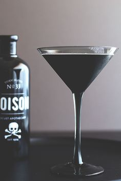 Get spooky with this squid ink-infused cocktail.
