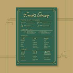 Frank's Library Graphic Design Illustration