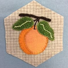 Stitching Society Block made by Karen Bates for Sew Creative Ashland --  Embroidery on Wool Applique
