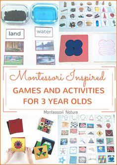 Montessori Nature: MONTESSORI INSPIRED GAMES AND ACTIVITIES FOR 3 YEAR OLDS.