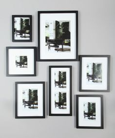 1000 images about organize picture frames on pinterest for Picture frames organized on walls