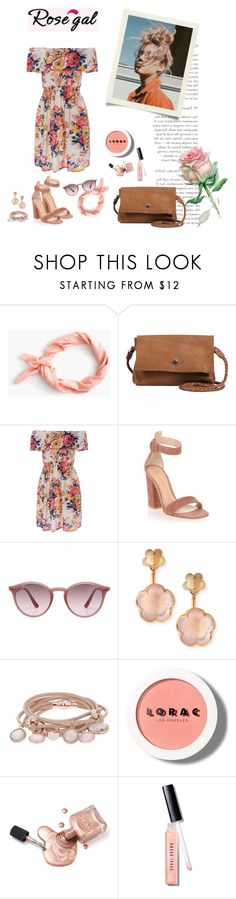 """RoseGal Dress 2017"" by karolinakaroo ❤ liked on Polyvore featuring J.Crew, Day & Mood, Gianvito Rossi, Ray-Ban, Pasquale Bruni, Marjana von Berlepsch, LORAC and Bobbi Brown Cosmetics"