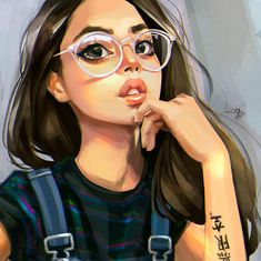 2017 Personal Illustrations and Fan Arts on Behance Cute Girl Drawing, Cartoon Girl Drawing, Girl Cartoon, Digital Art Girl, Digital Portrait, Portrait Art, Pop Art Girl, Black Girl Art, Cool Anime Girl